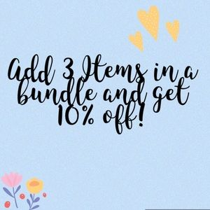 Other - 🛍Add 3 items in a bundle and receive 10% OFF! 🛍